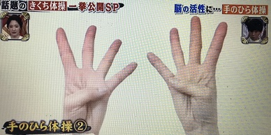 手のひら体操